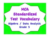 MCA Standardized Test Vocabulary, Algebra/Data Analysis Grade 3