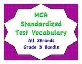 MCA Standardized Test Vocabulary, All Strands Grade 3 Bundle