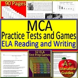 MCA Reading Test Prep Practice Tests ELA Review Games and Writing Prompts