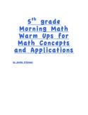 MCAP 5th grade AIMSWEB morning math