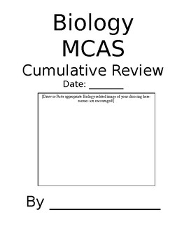 MCAS Biology Review/Final Project (Booklet)
