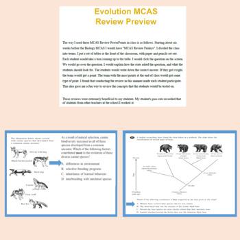 Biology MCAS Review Bundle