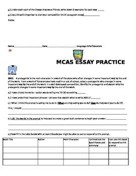 ELA Gr.8-10 MCAS Long Comp. Twelve Prompts Twelve Pages Special Ed/Gen. Ed.