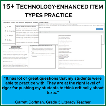 MCAS Practice Test, Worksheets and Remedial Resources - 5th Grade ELA Test Prep