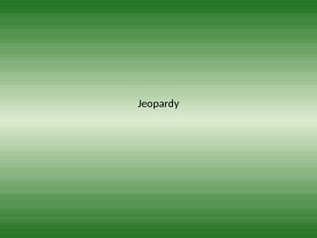 MCAS Science Jeopardy - 5th Grade