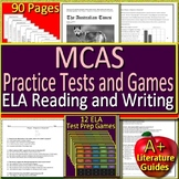 MCAS Test Prep for ELA Reading and Writing Practice Tests + 12 ELA Review Games