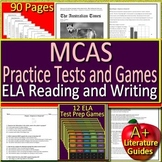 MCAS Test Prep for ELA Reading and Writing Google Practice Tests + 12 ELA Games