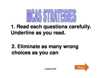 MCAS Tips