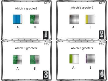 MCC.4.NF.7 - Comparing Decimal Fractions - Black& White Frame