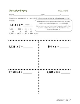 MCC.4.NBT.5 Multiply Using Strategies and Place Value