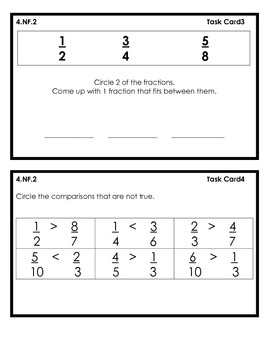 "MCC.4.NF1-2 Fraction Question ""Task"" Cards"