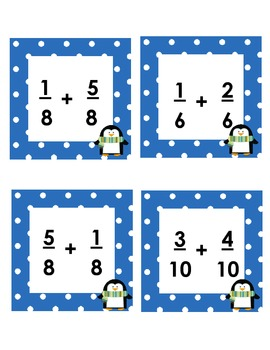 MCC.4.NF.3 Adding and Subtracting Fractions - War Game