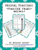 MCC.4.NF5-7 Practice Pages: Relate, Convert, & Compare Dec