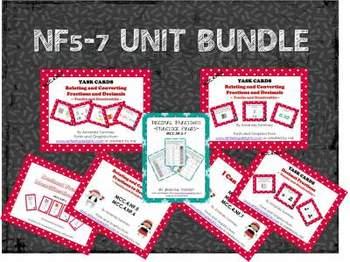 MCC.4.NF5-7 Unit Bundle: Relate/Convert/Compare Fractions & Decimals