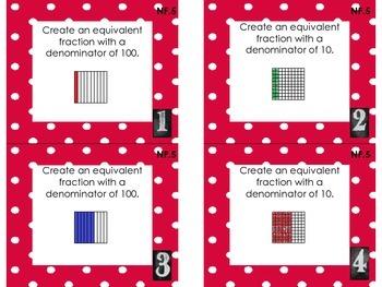 MCC.4.NF.5 Task Cards - Decimal Fractions