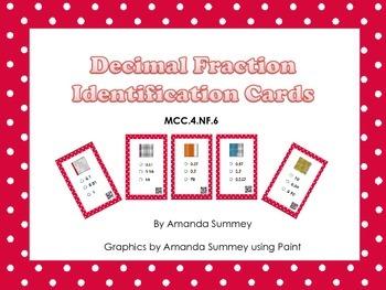 MCC.4.NF.6 - Identify Decimal Cards (QR Code)