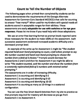 """MCCKCC5 Count to answer """"How many?"""" No-Prep Assessment / Practice"""