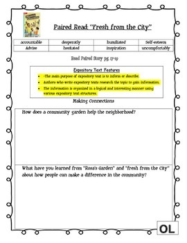 MCGRAW HILL WONDERS Unit 1, Week 2 Gr. 4 Small Group Reader Worksheets