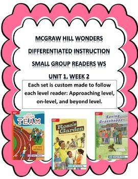 MCGRAW HILL WONDERS Unit 1, Week 2 Gr. 4 Small Group Reade