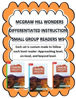 MCGRAW HILL WONDERS Unit 1, Week 3 Gr. 4 Small Group Reader Worksheets