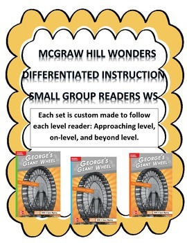 MCGRAW HILL WONDERS Unit 1, Week 4 Gr. 4 Small Group Reader Worksheets