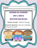 MCGRAW HILL WONDERS Unit 1, Week 6 Review and Reflection Journal