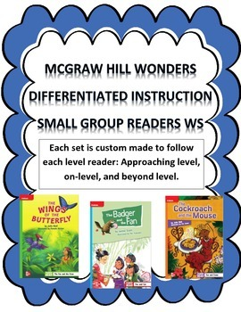 MCGRAW HILL WONDERS Unit 2, Week 1 Gr. 4 Small Group Reader Worksheets