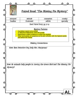 MCGRAW HILL WONDERS Unit 2, Week 2 Gr. 4 Small Group Reader Worksheets