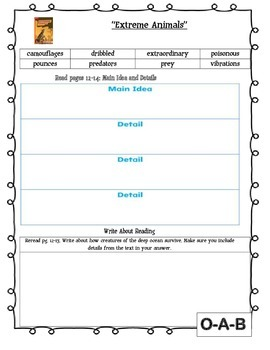 MCGRAW HILL WONDERS Unit 2, Week 4 Gr. 4 Small Group Reader Worksheets