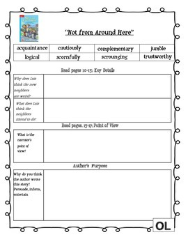 MCGRAW HILL WONDERS Unit 3, Week 1 Gr. 4 Small Group Reader Worksheets
