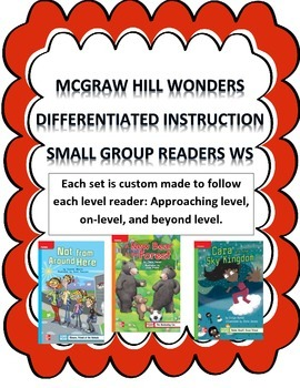 MCGRAW HILL WONDERS Unit 3, Week 1 Gr. 4 Small Group Reade
