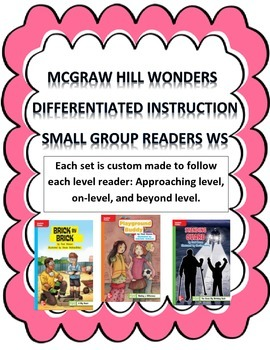 MCGRAW HILL WONDERS Unit 3, Week 2 Gr. 4 Small Group Reader Worksheets