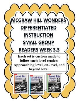 MCGRAW HILL WONDERS Unit 3, Week 3 Gr. 4 Small Group Reader Worksheets