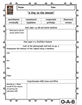 MCGRAW HILL WONDERS Unit 4, Week 1 Gr. 4 Small Group Reader Worksheets