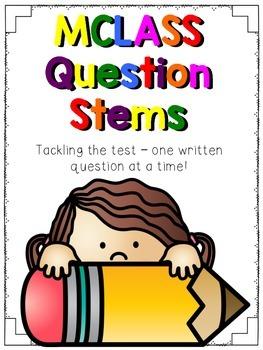 MCLASS question stems - FREEBIE!