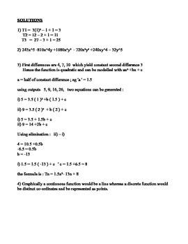 MCR3U Quiz : C1 - Representing Sequences