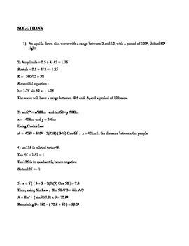 MCR3U Trigonometry Review