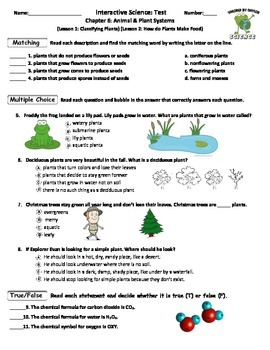 MCSB – 3rd Grade Interactive Science (Study Guide/Test Combo Ch. 6-Lesson 1&2)