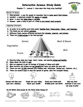 MCSB – 3rd Grade Interactive Science (Study Guide/Test Combo Ch. 7-Lesson 1)