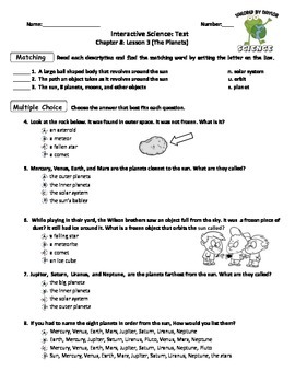 MCSB – 3rd Grade Interactive Science (Study Guide/Test Combo Ch. 8 -Lesson 3)