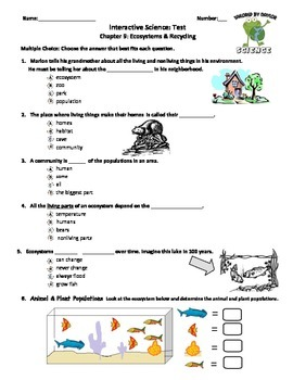 MCSB – 3rd Grade Interactive Science (Study Guide/Test Combo Ch. 9-Lesson 1&2)