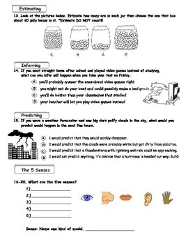 MCSB – 3rd Grade Interactive Science (Study Guide/Test Combo Ch.1 - Lesson 2&3)