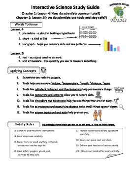 MCSB – 3rd Grade Interactive Science (Study Guide/Test Combo Ch.1 - Lesson 4&5)