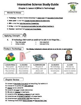 MCSB – 3rd Grade Interactive Science (Study Guide/Test Combo Ch.1 - Lesson 6)