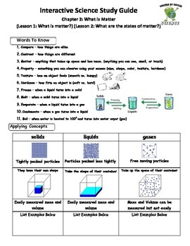 MCSB – 3rd Grade Interactive Science (Study Guide/Test Combo Ch.2 - Lesson 1&2)