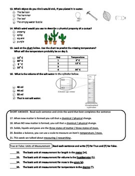 MCSB – 3rd Grade Interactive Science (Study Guide/Test Combo Ch.2 - Lesson 3)
