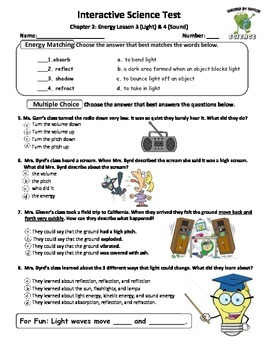 MCSB – 3rd Grade Interactive Science (Study Guide/Test Combo Ch.3 – Lesson 3&4)