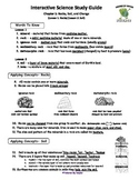 MCSB – 3rd Grade Interactive Science (Study Guide/Test Combo Ch.5 - Lesson 1&2)