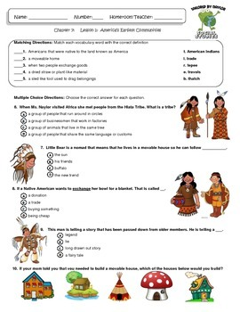 MCSB –Harcourt 3rd Grade Louisiana S. Studies: Ch. 7 Lesson1 Study Guide/Test