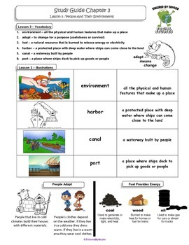 MCSB –Harcourt 3rd Grade Louisiana S. Studies: Ch. 3 Lesso